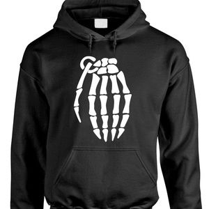Grenade black and gray pullover hoodie