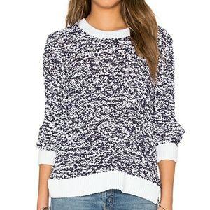 {Rag & Bone} JEAN Michelle Navy & White Sweater