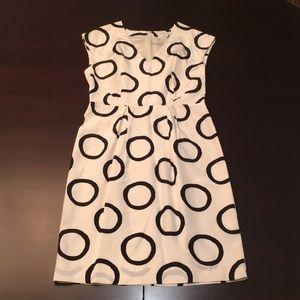 V neck print dress