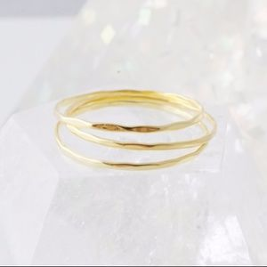 Skinny Ring Trio - 24K Gold Plated