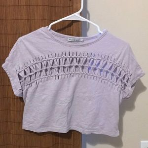 Lilac cut out crop top
