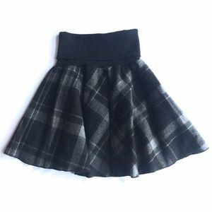 H&M Plaid Tweed Circle Skirt