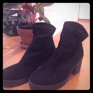 ASOS black sock boots