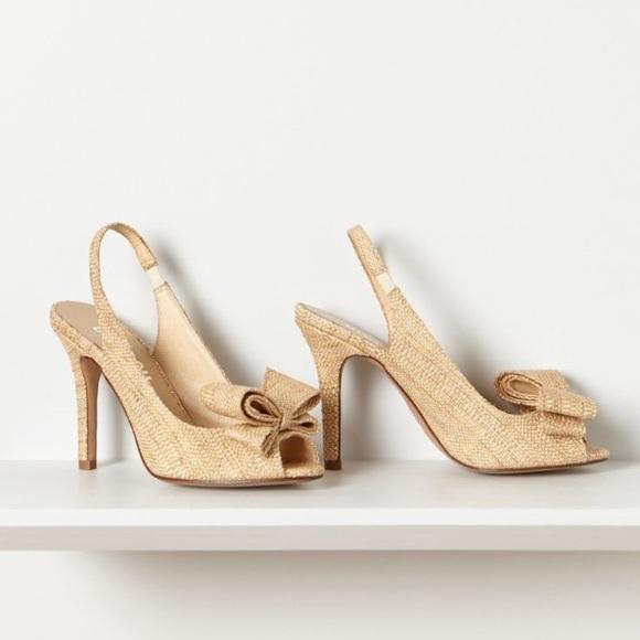 67272914eb Anthropologie Shoes - Anthropologie Bibi Lou Bow Slingback Heels