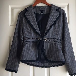 Tweed Blazer with beading and rhinestone details!