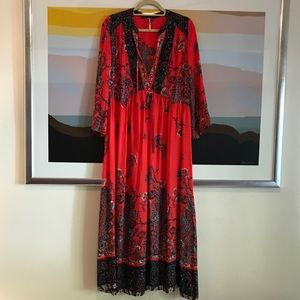 FP If You Only Knew Painted Maxi Dress