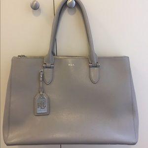 LAUREN by Ralph Lauren Newbury double zip satchel