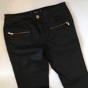 Zara faux leather pants slim fit