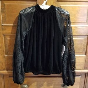Free people velour and lace too size M