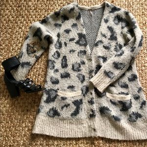 Free People Cheetah Print Sweater