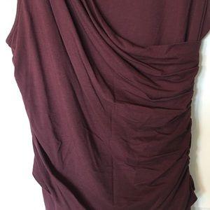 Theory Dresses - Theory burgundy sleeveless dress sz L.