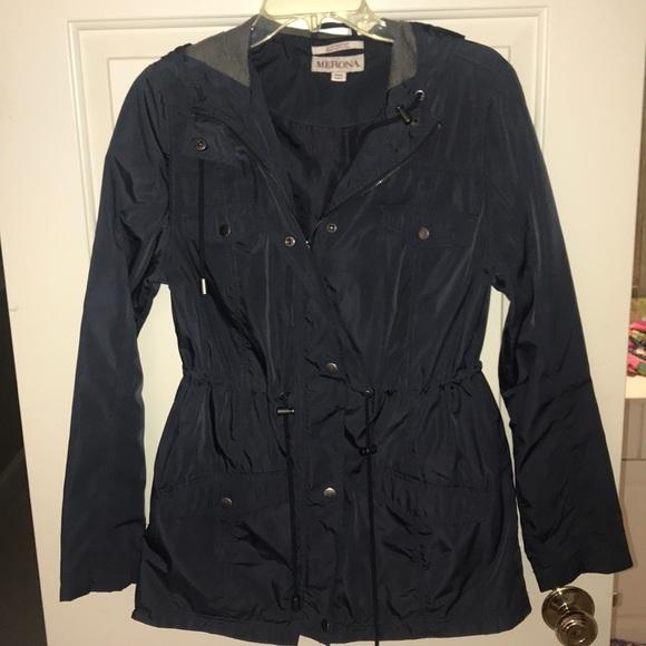 cfa25f9af Merona Jackets & Coats | Womens Navy Rain Jacket | Poshmark