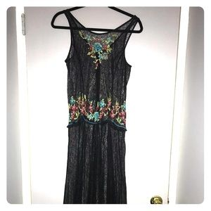 Gorgeous Sheer Free People Maxi Dress w/Embroidery
