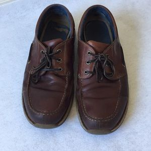 Timberland Brown Leather Loafers Boat Shoes 12M