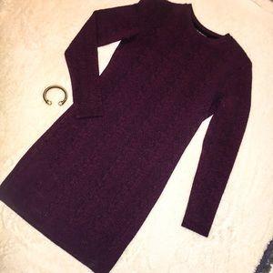 Top Shop Burgundy long sleeve dress Worn Once!