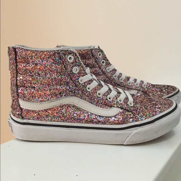 541ad8ace86 ... Tops (Chunky Glitter SK8-HI Slim Zip). M 5a10a5daa88e7dacfb03692c.  Other Shoes you may like. Black vans