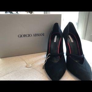 Armani black heels