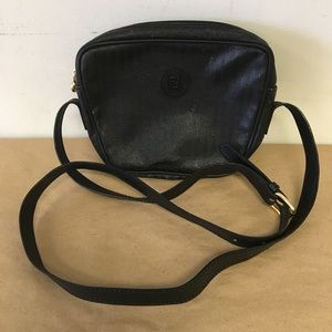 FENDI Black Leather & Nylon Crossbody Swingpack