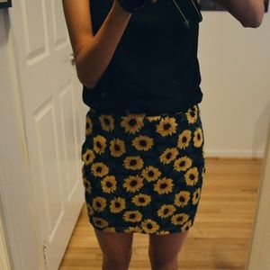 Urban Outiftters Pins and Needles Sunflower Skirt