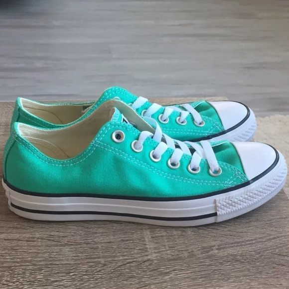 Converse seafoam green low top shoes women size 7 292dcfdae