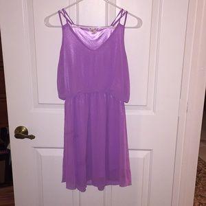 Flirty purple dress