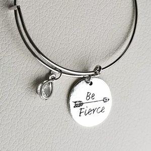 New be fierce charm bracelet, expandable bracelet