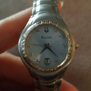 Bulova Gorgeous Watch With Diamond Accents
