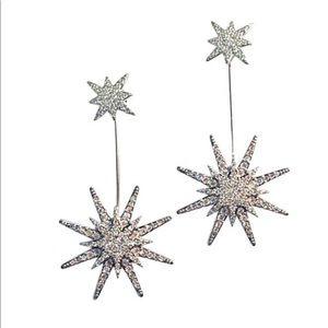 Star Gazer Silver & Crystal Earring