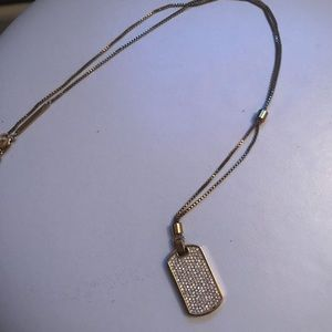 Michael Kors Dog Chain Diamond Necklace