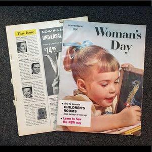 1958 Woman's Day TWO Mazazines with Amazing Ads
