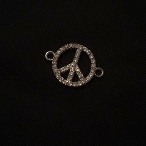 Peace blinged Charm 💎