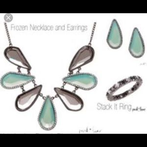 Park lane frozen necklace and earrings set