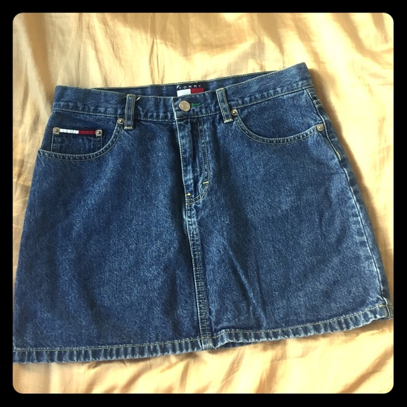 pretty nice search for authentic classic style Tommy Hilfiger denim skirt