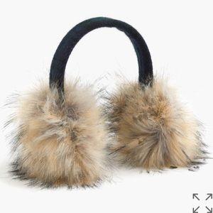 J. Crew faux fur earmuffs