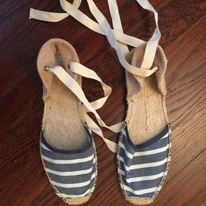 Soludos espadrilles striped denim size 7