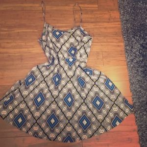 Retro Pattern Sun Dress