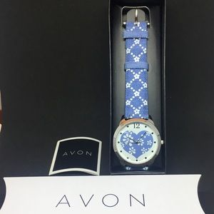 Brand New in Box - Avon Denim Petals Watch