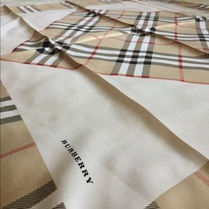 Burberry twill silk scarf