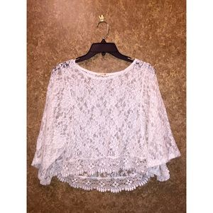 See Through Lace Crop Top