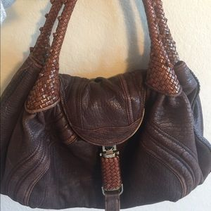 Fendi Brown Leather Spy Bag