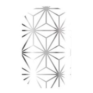 Jamberry Nail Wraps Morocco White Silver NEW