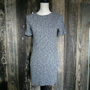 Forever 21 Ribbed Short Sleeved Mini Dress