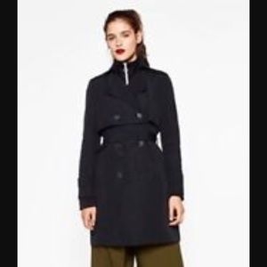 Zara Navy Blue Trench coat