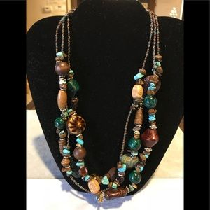 Jewelry - Brown & Turquoise Necklace