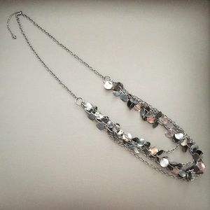 Jewelry - Convertible gun metal necklace