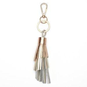 LAUREN CONRAD Metallic Ombre Tassel Key Chain
