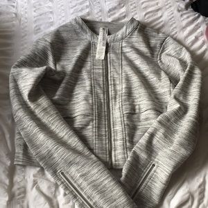 Cropped Grey Fabletics Jacket