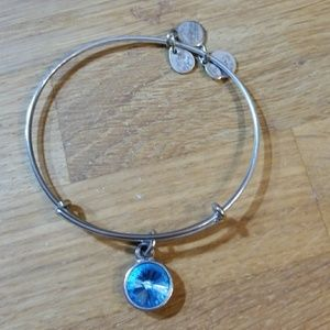 Alex and Ani March Birthstone Bangle