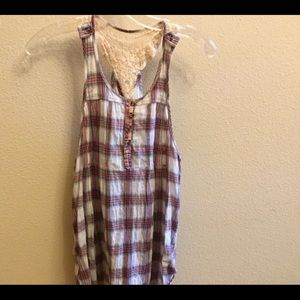 Free People racer back blouse