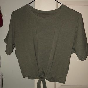 Army Green Knot Tie T-shirt